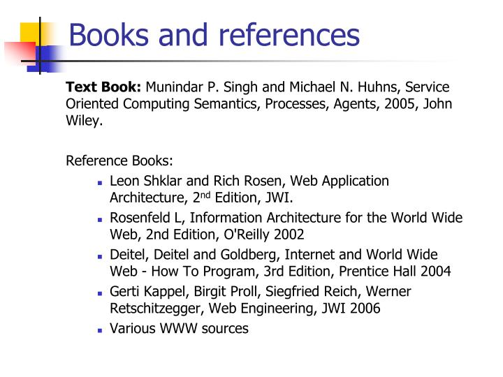 Books and references