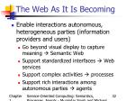the web as it is becoming