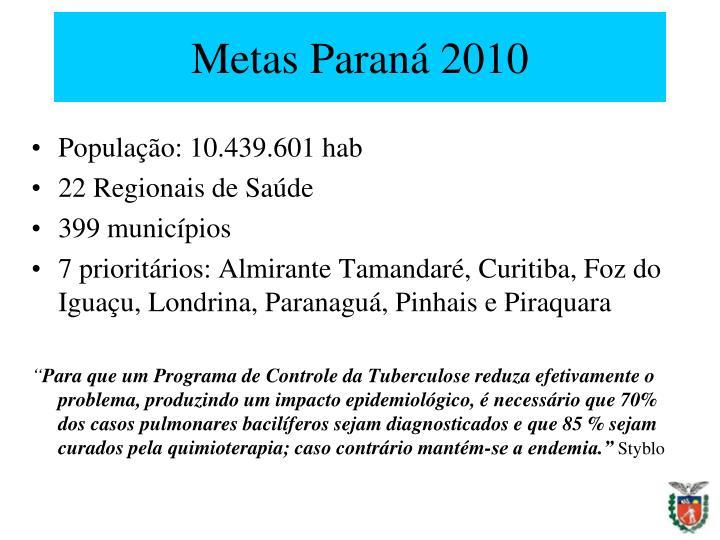 Metas Paraná 2010