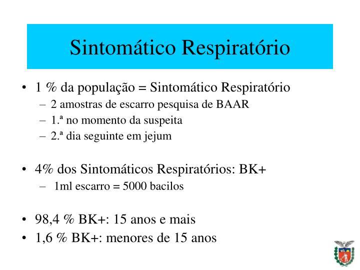 Sintomático Respiratório