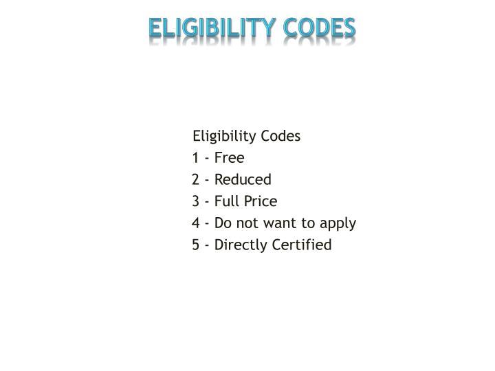 Eligibility Codes