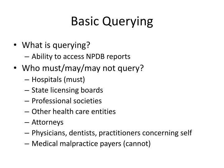Basic Querying