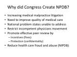 why did congress create npdb
