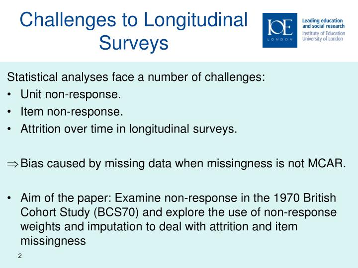 Challenges to longitudinal surveys