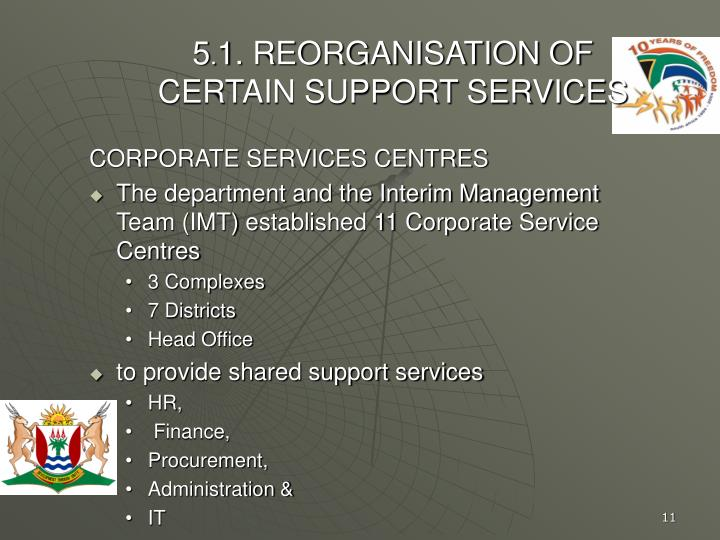 CORPORATE SERVICES CENTRES