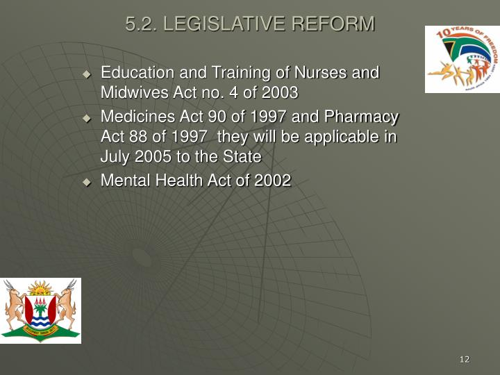 Education and Training of Nurses and Midwives Act no. 4 of 2003