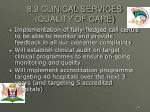 8 3 clinical services quality of care