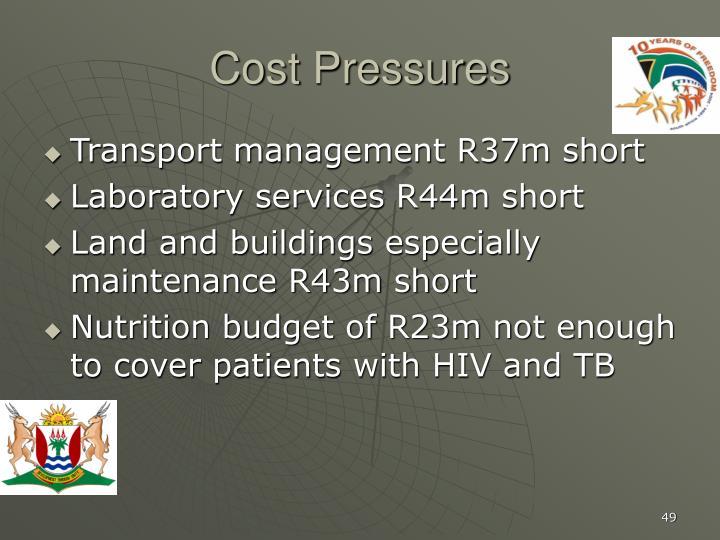Cost Pressures