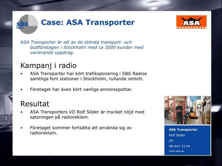 Case: ASA Transporter
