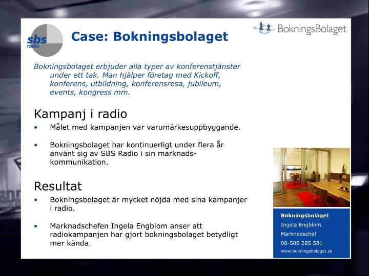 Case: Bokningsbolaget