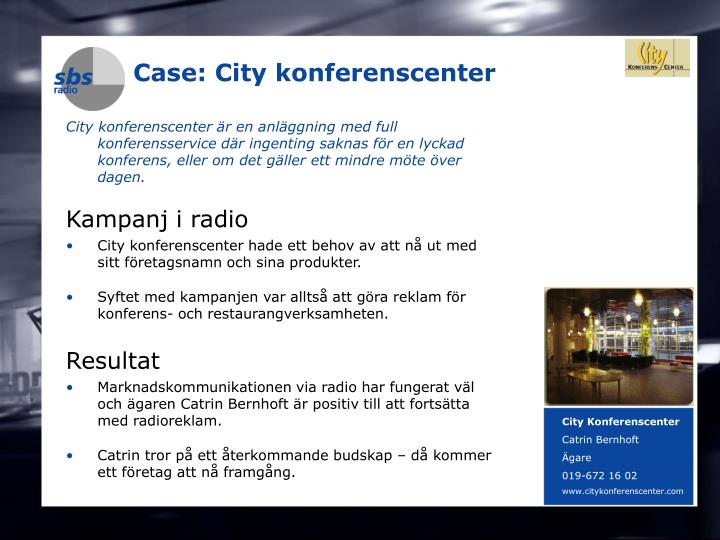 Case: City konferenscenter
