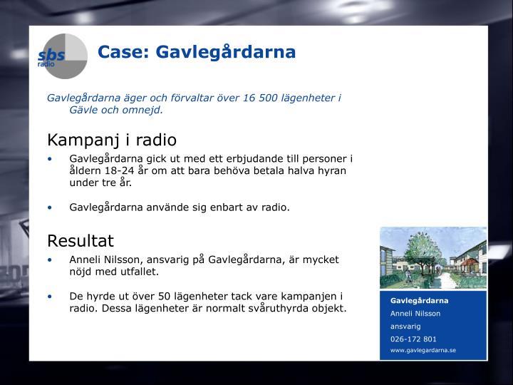 Case: Gavlegårdarna