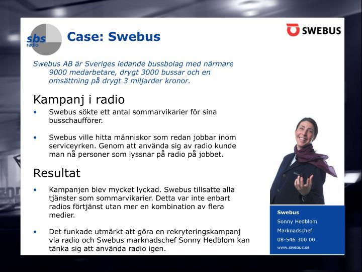 Case: Swebus