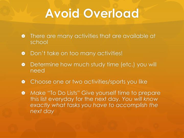 Avoid Overload