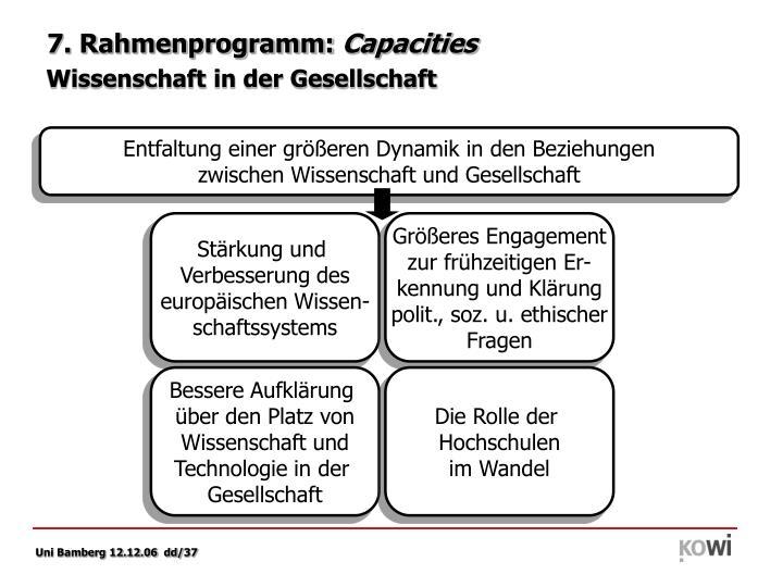 7. Rahmenprogramm: