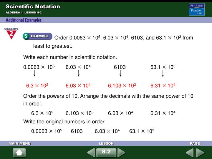 Write each number in scientific notation.