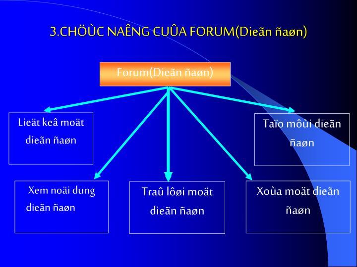 Forum(Dieãn ñaøn)