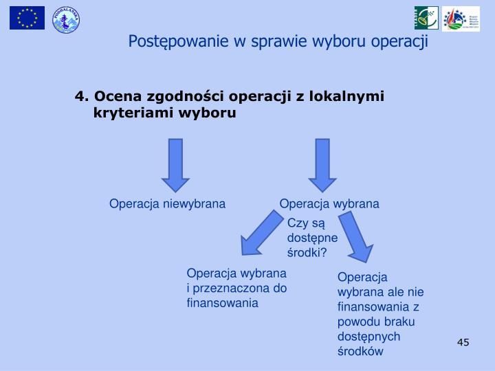 Postępowanie w sprawie wyboru operacji