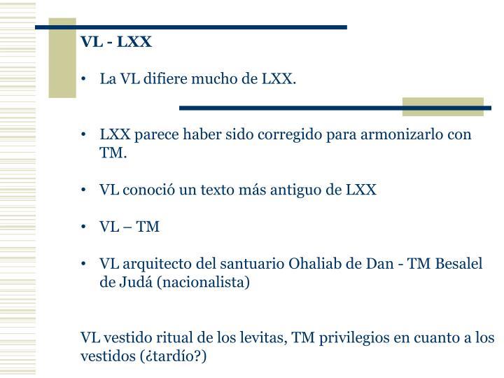 VL - LXX