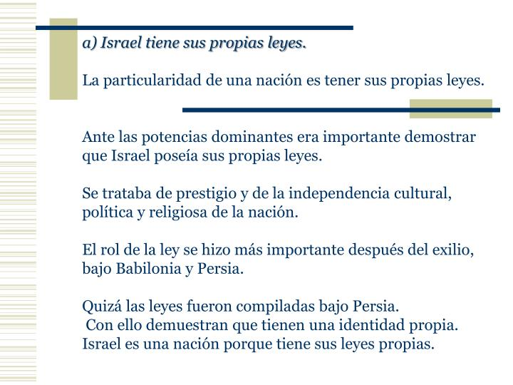 a) Israel