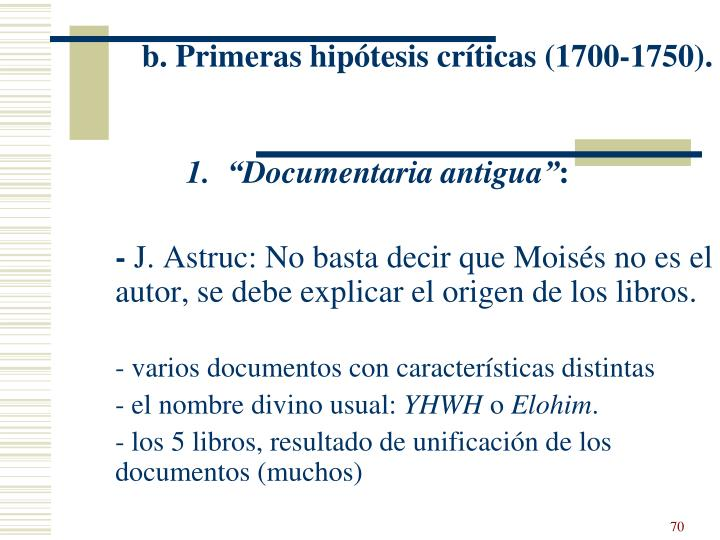 b. Primeras