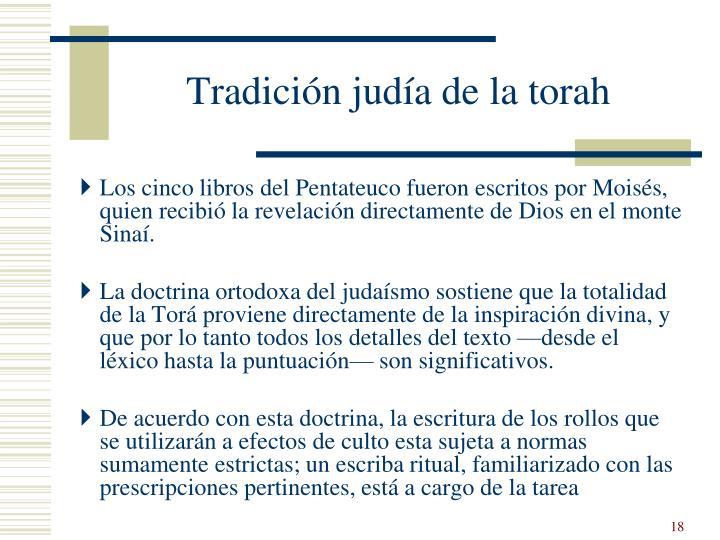 Tradición judía de la torah