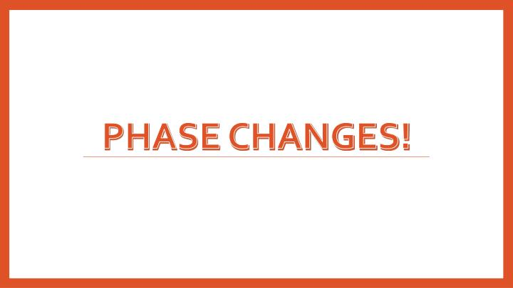 Phase Changes!