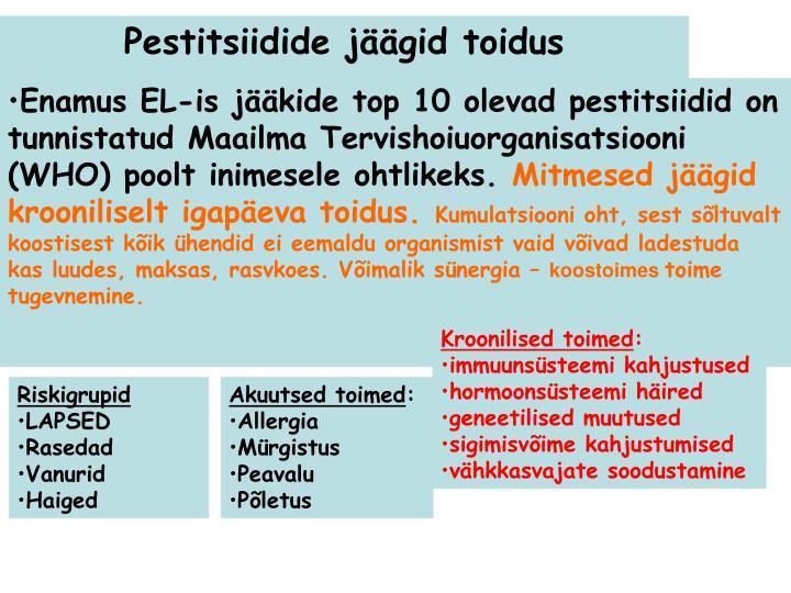 Pestitsiidide jäägid toidus