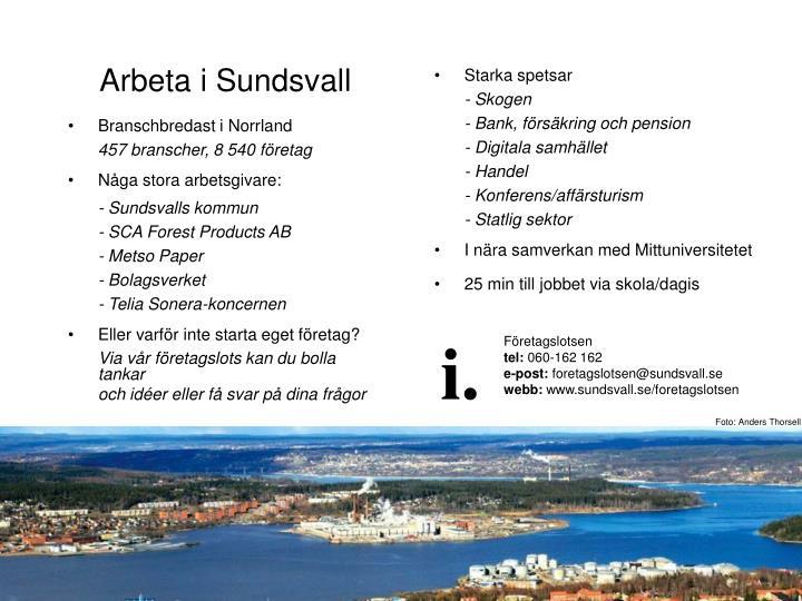 Arbeta i Sundsvall