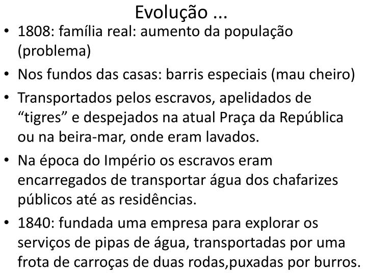 Evolução ...