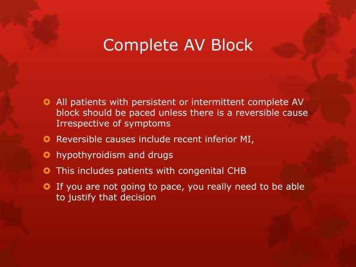 Complete AV Block