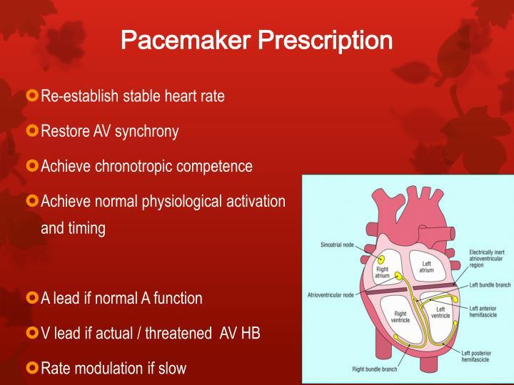 Pacemaker Prescription