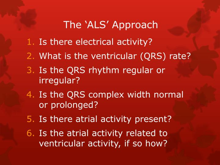 The 'ALS' Approach