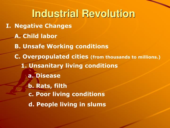 industrial revolution negative essay
