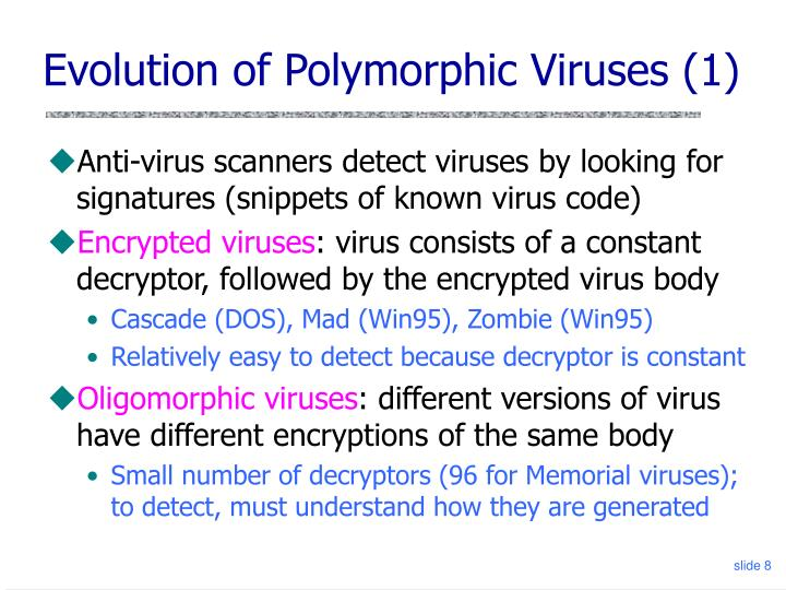 Evolution of Polymorphic Viruses (1)