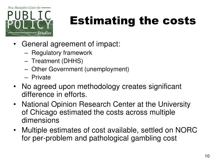 Estimating the costs