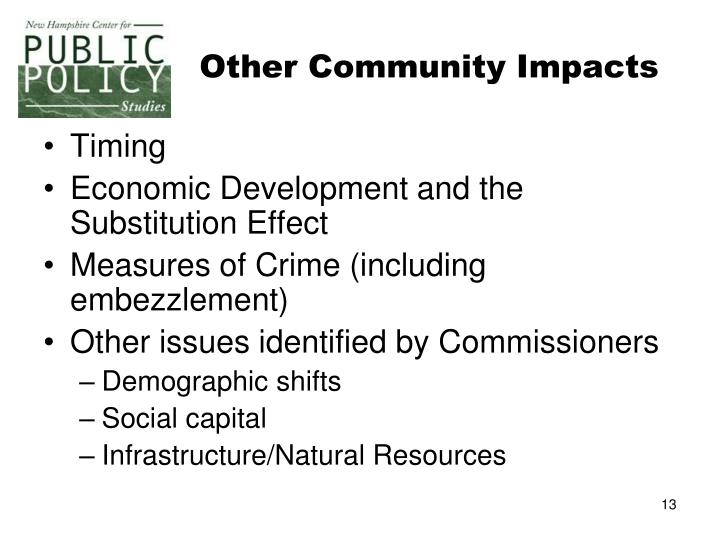 Other Community Impacts