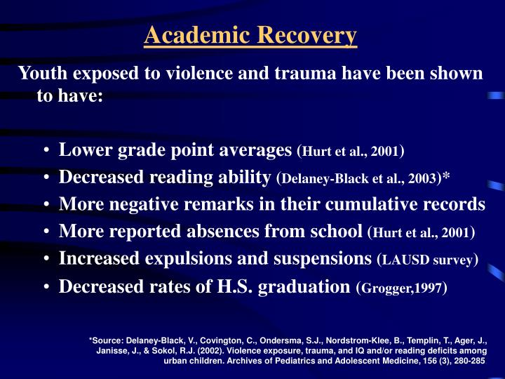 Academic Recovery