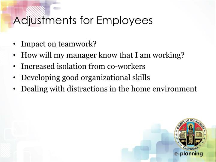 Adjustments for Employees