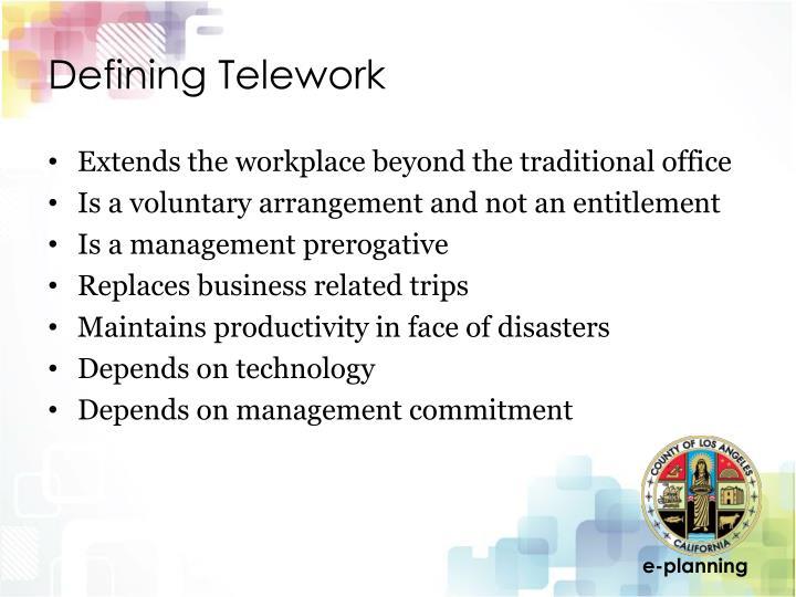 Defining Telework