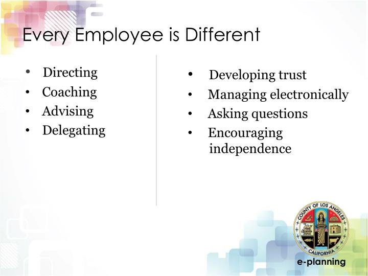 Every Employee is Different