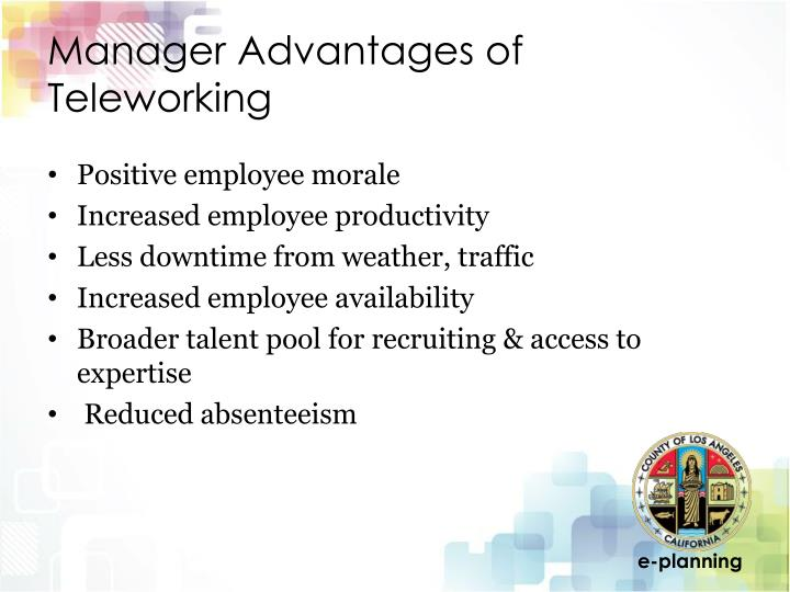 Manager Advantages of Teleworking