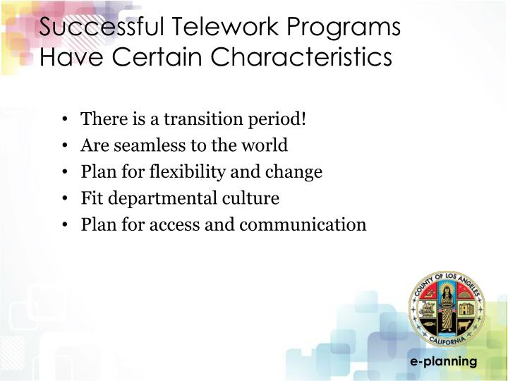 Successful Telework Programs