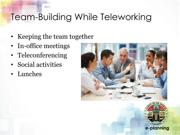 Team-Building While Teleworking