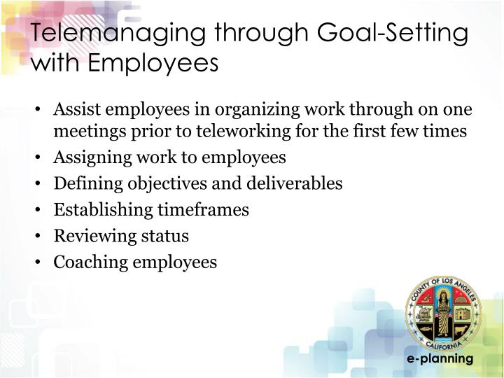 Telemanaging through Goal-Setting with Employees