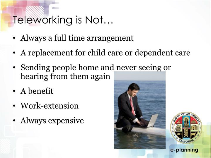 Teleworking is Not…