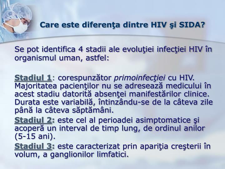 Care este diferenţa dintre HIV şi SIDA?