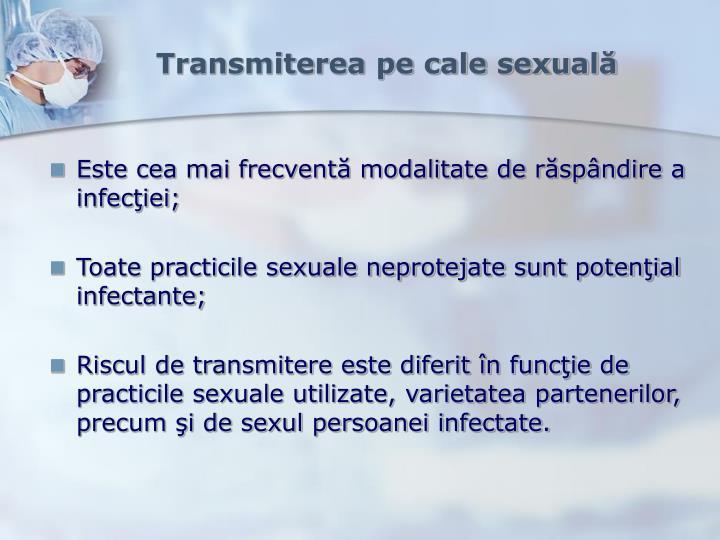 Transmiterea pe cale sexuală