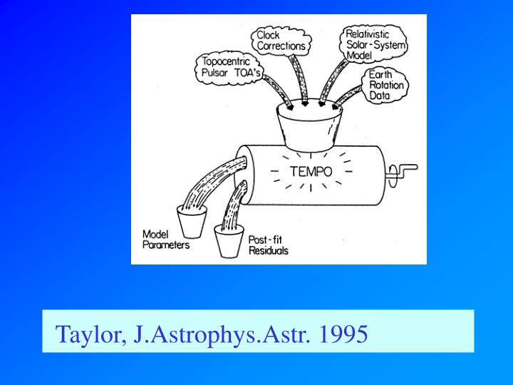 Taylor, J.Astrophys.Astr. 1995