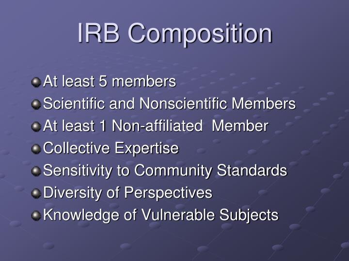 IRB Composition